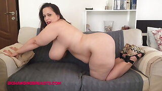 Romanian Plus-size with huge tits and plush body