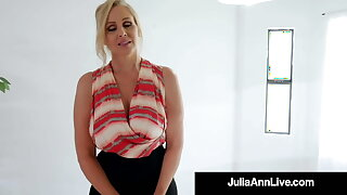 Congrats! Hot Mummy Julia Ann Sells House With Great Blowjob!