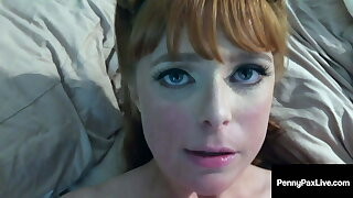 Ginger Thicket Horn Dog Penny Pax Face Fucked In Toilet Room!