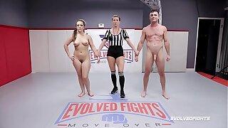 Carmen Valentina nude wresting struggle with Lance Hart winner fucks loser